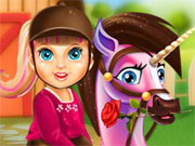 Play Baby Barbie Pony Care