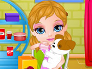 Play Baby Barbie Puppy