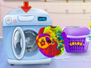 Play Baby Minion Washing Clothes