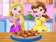 Play Baby rapunzel and belle pizza