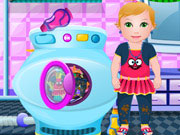 Play Baby Washing Clothes