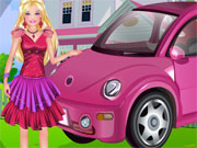 Play Barbie Car Cleaning