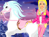Play Barbie's Winter Pony Caring