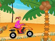 Play Beach Girl ATV Race