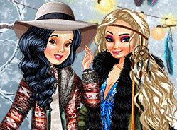 Play Boho Winter with Princesses