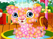 Play Caring Lion Puppy
