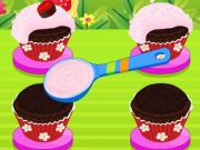 Play Chocolate Cherry Cupcakes