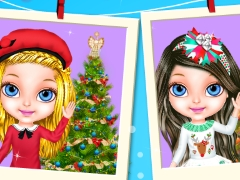 Play Christmas With Baby Barbie