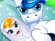 Play Cute Pony Baby Birth