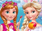 Play Elsa And Anna Easter Fun