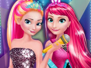 Play Elsa And Anna In Rock N Royals