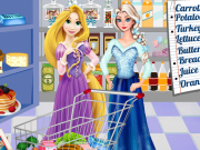Play Elsa And Rapunzel Shopping