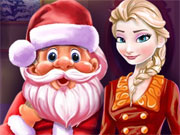 Play Elsa And Santa Christmas Cleaning