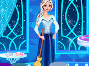 Play Elsa Castle Cleaning