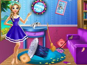 Play Elsa Room Cleaning