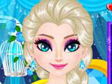 Play Elsa's Sparkling Eyelashes