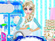 Play Elsa Washing Dishes