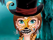 Play Frozen Anna Halloween Face Art
