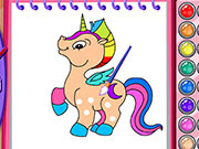 Play Horse and Unicorn Coloring Book