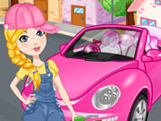 Play Pink Beetle Cleaning