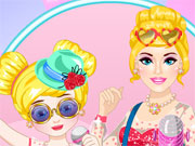 Play Popstar Barbie and Daughter