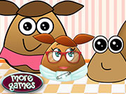 Play Pou Family At The Doctor