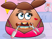 Play Pou Girl Tooth Problems
