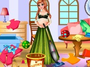 Play Pregnant Anna Room Cleaning
