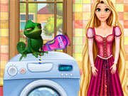 Play Rapunzel Washing Clothes