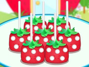 Play Strawberry Shaped Pops