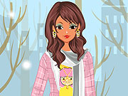Play Stylish Winter Girl Dress Up