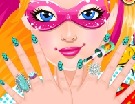 Play Super Barbie's Manicure