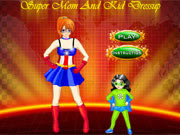 Play Super mom and kid dressup