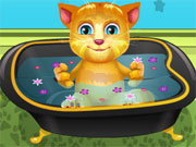 Play Talking Ginger Bathing
