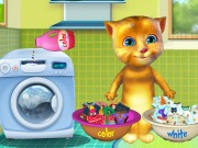 Play Talking Ginger Washing Clothes