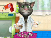 Play Talking Tom Washing Dishes