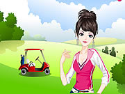 Play The Lively Golf Girl Dress Up